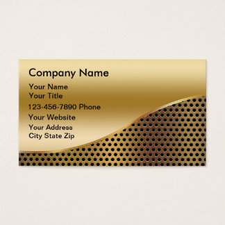 Simulated Metal Business Cards