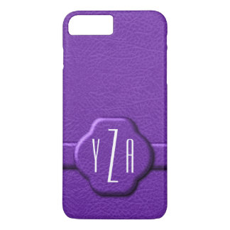 Simulated Purple Leather 3 Letter Monogram Case