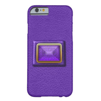 Simulated Purple Leather And Gemstone iPhone6 Case Barely There iPhone 6 Case