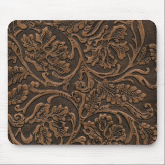 Simulated Saddle Leather Mouse Pad