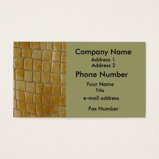 Simulated Snake Skin Business Card
