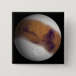Simulated view of Mars Pinback Button