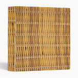 Simulated Wicker 3 Ring Binders