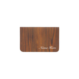 Simulated Wood Business Card Holder