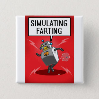 Simulating Farting Pinback Button