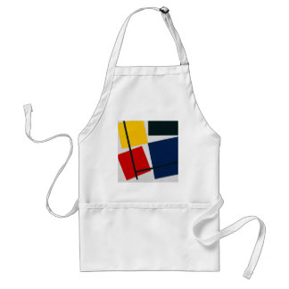 Simultaneous Counter Composition Theo van Doesburg Adult Apron