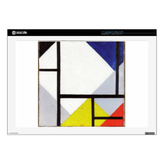 """Simultaneous Counter Composition Theo van Doesburg Decal For 17"""" Laptop"""