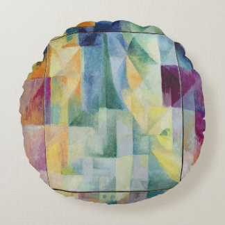 Simultaneous Windows on the City Round Pillow