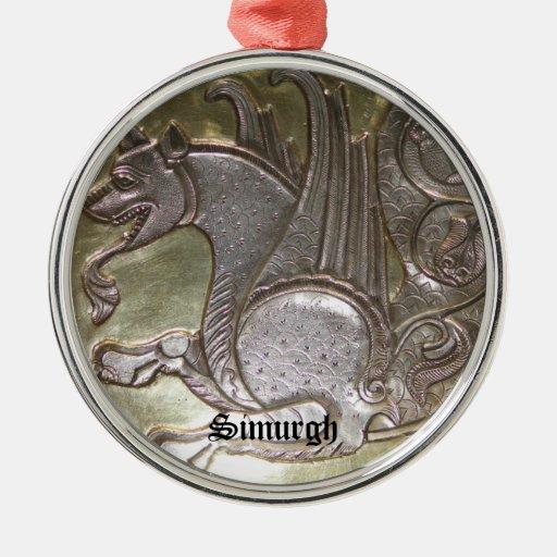 Simurgh Adorno Navideño Redondo De Metal