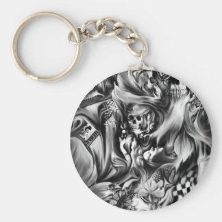 Sin and smoke melting skulls key chains