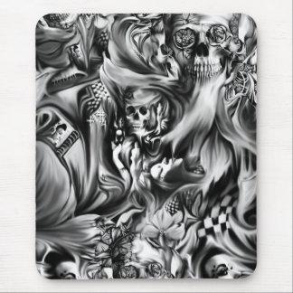 Sin and smoke melting skulls mouse pad