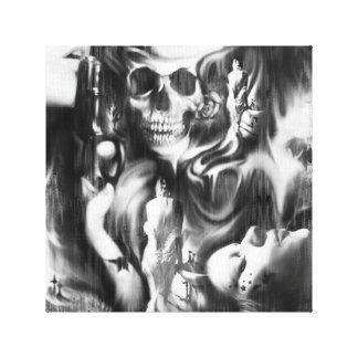 Sin and Smoke mixed media canvas artwork. Stretched Canvas Prints