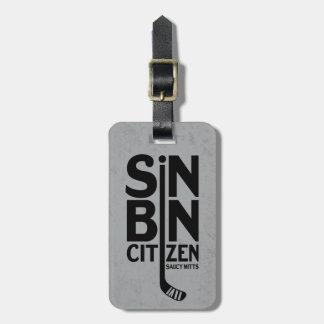 Sin Bin Citizen Hockey Bag Luggage Tag