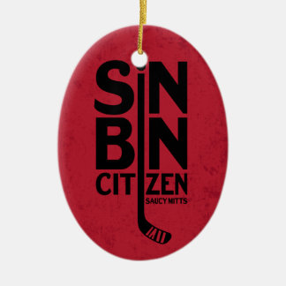 Sin Bin Citizen Hockey Ceramic Ornament