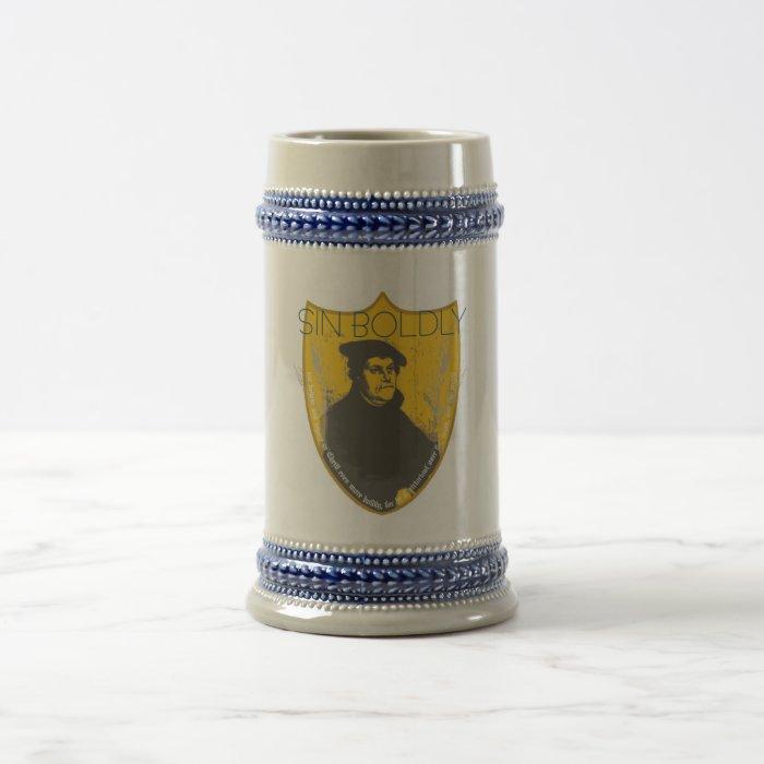 Sin Boldly - Martin Luther Beer Stein