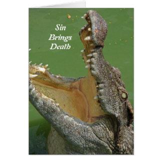 Sin Brings Death - Greeting Card