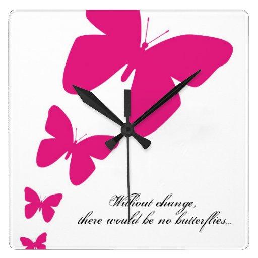 Sin cambio, no habría mariposas relojes