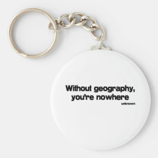 Sin cita de la geografía llavero redondo tipo pin