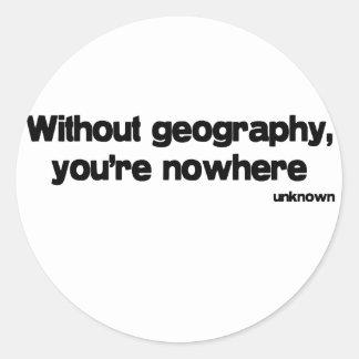 Sin cita de la geografía etiquetas redondas