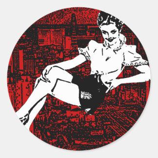 sin city classic round sticker
