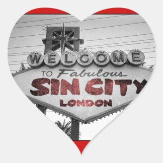 Sin City Heart Sticker