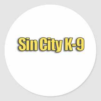 Sin City K9 Classic Round Sticker