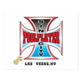 Sin City Pool Player Postcard