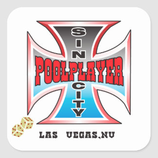 Sin City Pool Player Square Sticker