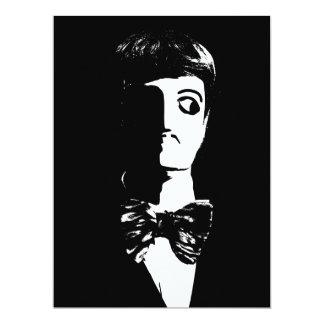 Sin City Style Man - Black & White 6.5x8.75 Paper Invitation Card
