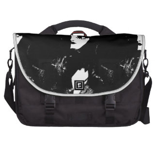 Sin City Style Woman - On Black Background Bags For Laptop