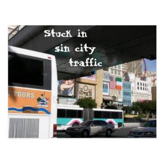 Sin City Traffic Postcard