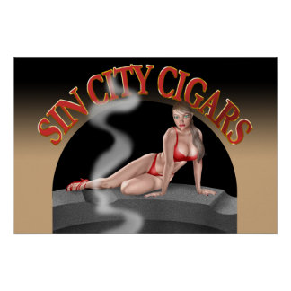 Sin City's Logo #5 on a wall poster