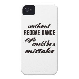 Sin danza del reggae la vida sería un error Case-Mate iPhone 4 cárcasas