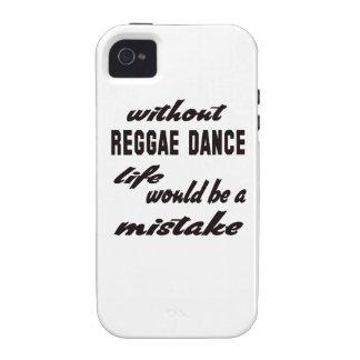 Sin danza del reggae la vida sería un error vibe iPhone 4 carcasas