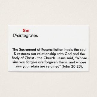 Sin Disintegrates Business Card