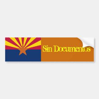 Sin Documentos Car Bumper Sticker