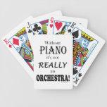 Sin el piano - orquesta baraja cartas de poker