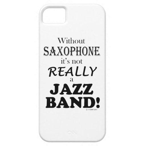 Sin el saxofón - banda de jazz iPhone 5 fundas