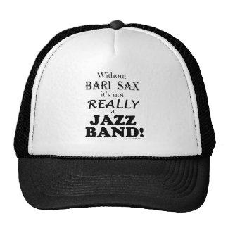 Sin el saxofón de Bari - banda de jazz Gorros Bordados