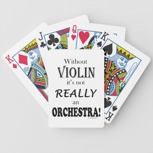Sin el violín - orquesta cartas de juego