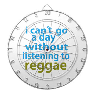 sin escuchar el reggae tablero de dardos