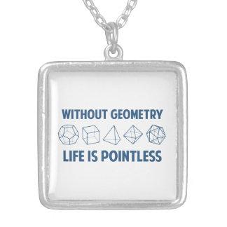 Sin geometría la vida es insustancial colgante cuadrado