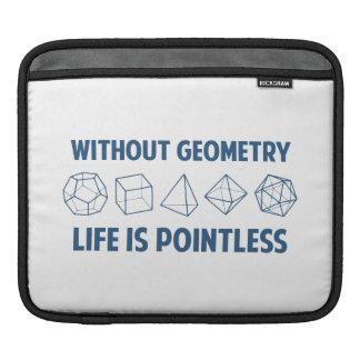 Sin geometría la vida es insustancial funda para iPads
