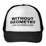 Sin geometría la vida es insustancial gorros bordados