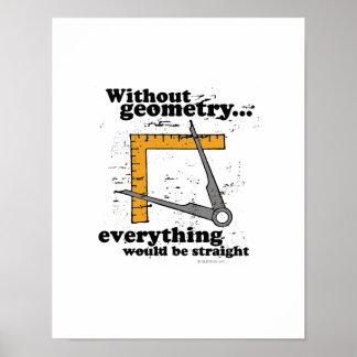 Sin geometría, todo sería recto póster