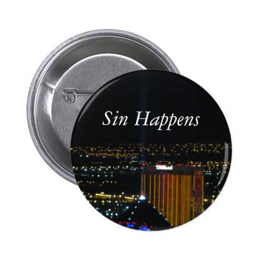 Sin Happens Pinback Buttons