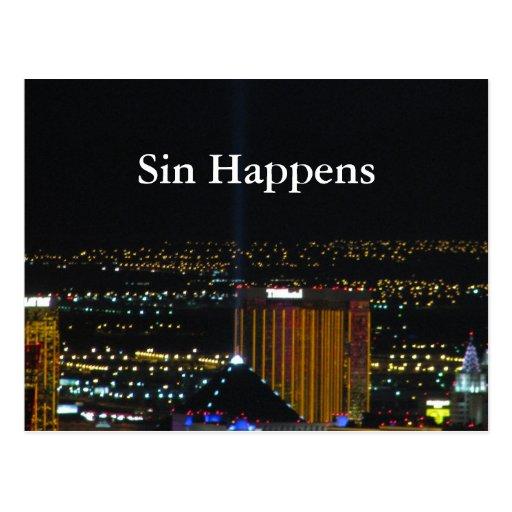 Sin Happens Postcard