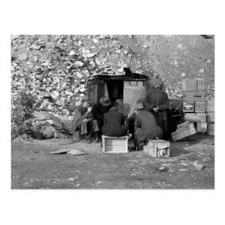Sin hogar y parados 1938 tarjeta postal