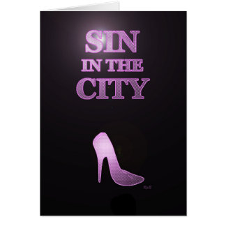 Sin in the City Birthday Card