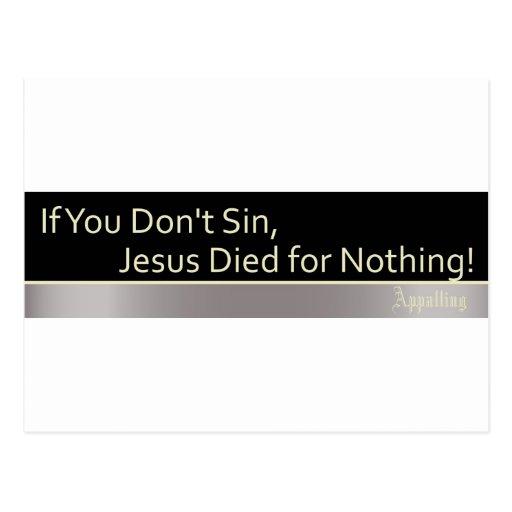 Sin is Good Postcard